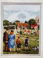Football on the Village Green ~ Cross Stitch Chart