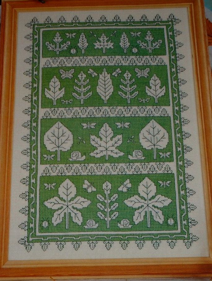 Assisi Leaves and Insects Sampler ~ Cross Stitch Chart