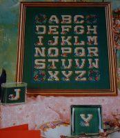 Floral Embellished Alphabet Sampler ~ Cross Stitch Chart