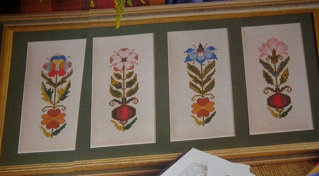 Victorian Style Florals ~ Three Cross Stitch Charts