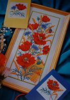 Summer Poppies ~ Cross Stitch Chart