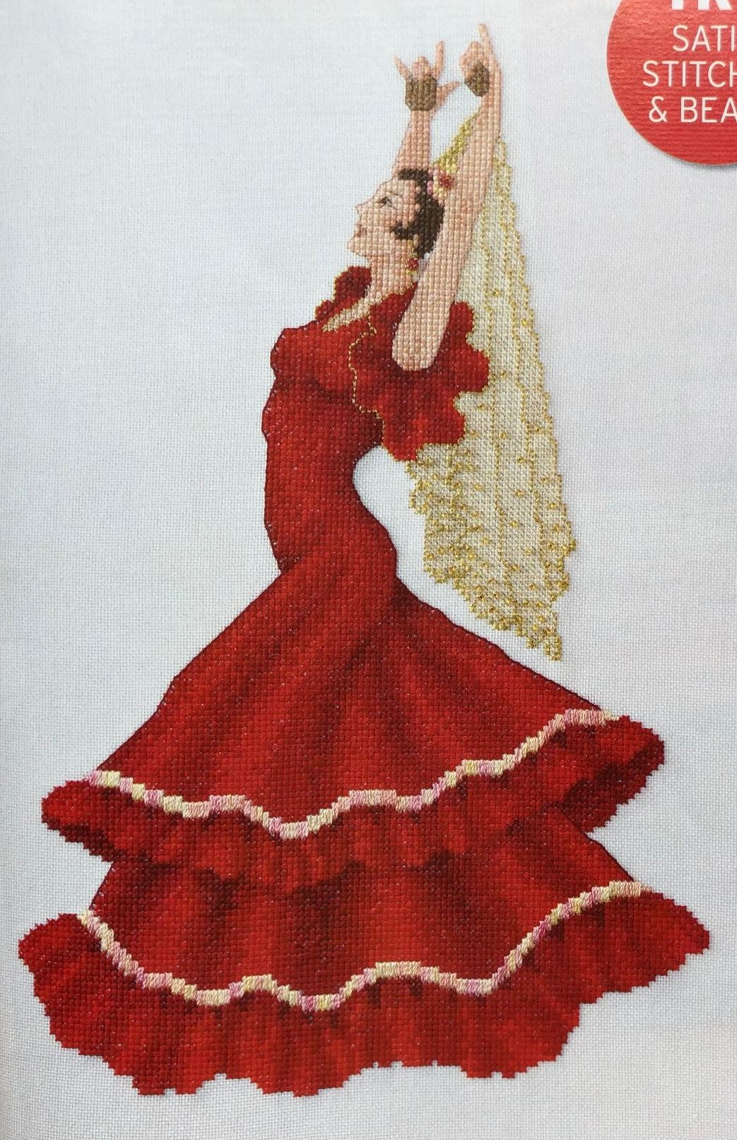 Spanish Flamenco Dancer ~ Cross Stitch Chart