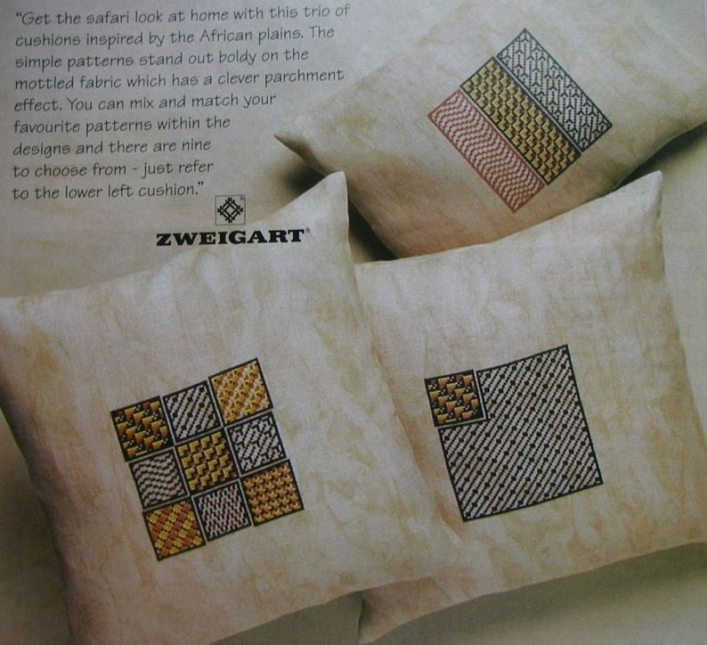 African Style Squares for Cushions ~ Cross Stitch Charts