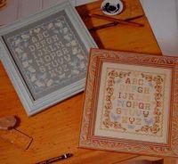 TWO Twin Alphabet Samplers ~ Cross Stitch Charts