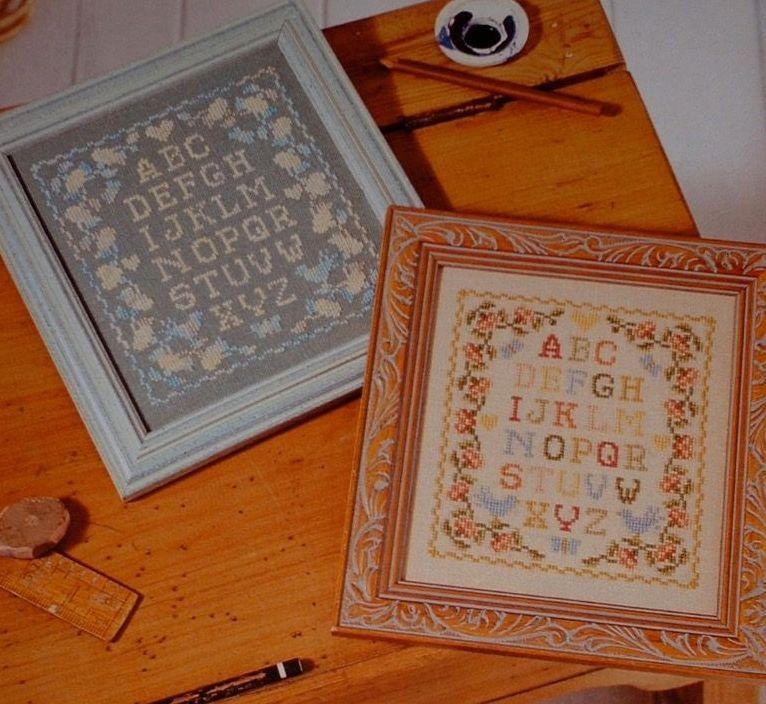 TWO Twin Alphabet Sampler ~ Cross Stitch Charts