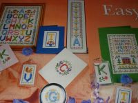 Colourful Alphabet Sampler with Floral Motifs ~ 8 Cross Stitch Charts