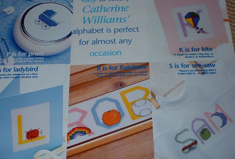 Baby's ABC Alphabet ~ Cross Stitch Chart