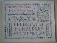 Beauty In Everything Alphabet Sampler ~ Cross Stitch Chart