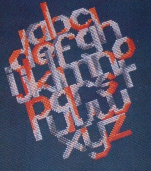 Abstract Alphabet Sampler ~ Cross Stitch Chart