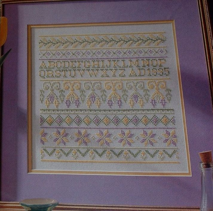 Spring ~ Floral Band Sampler with Alphabet ~ Cross Stitch Chart