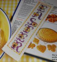 Floral Pansy ABC Alphabet ~ Cross Stitch Chart