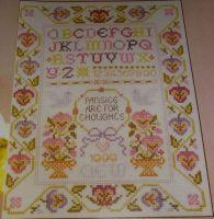 Pansy Sampler with Alphabet ~ Cross Stitch Chart