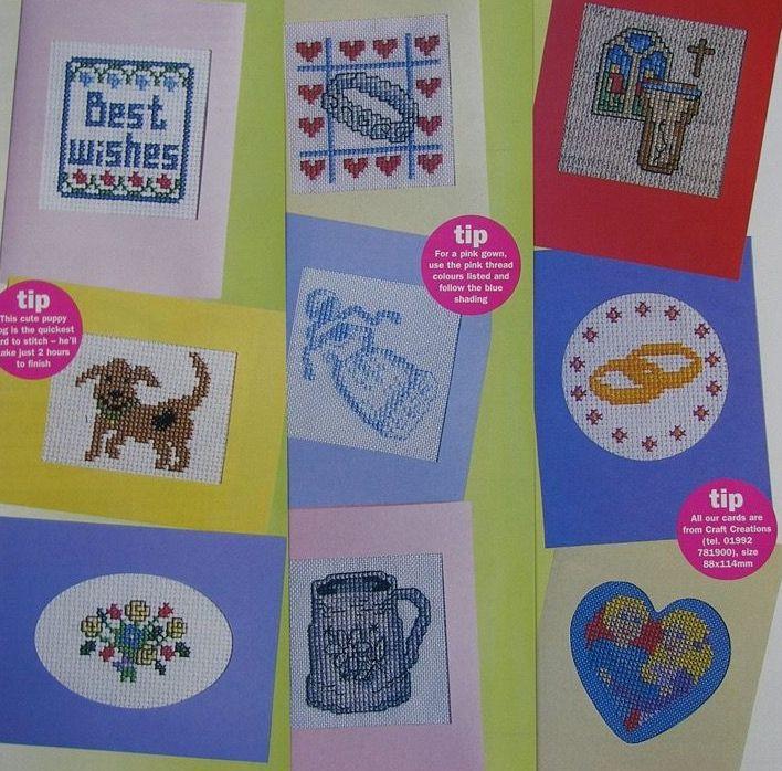Wedding, Christening & General cards ~ 12 Cross Stitch Charts