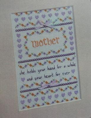 Mother Sampler ~ Cross Stitch Chart
