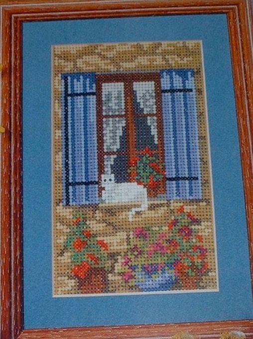 Cat in Window ~ Cross Stitch Chart