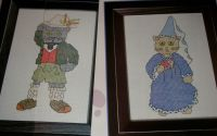 Two Dressed Up Cats ~ Cross Stitch Charts