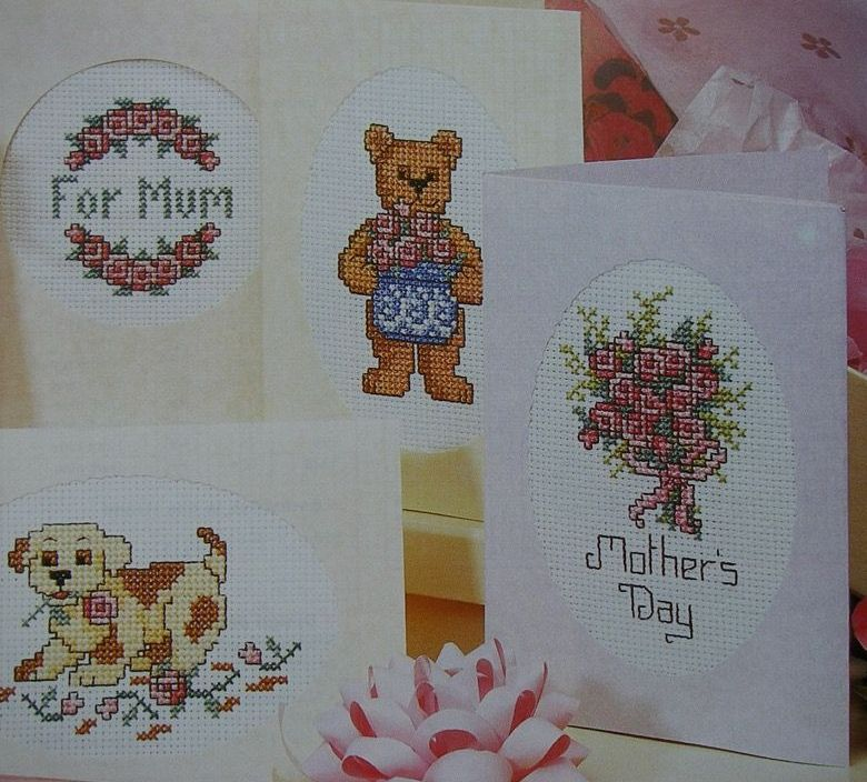 Six Mother's Day Cards ~ Cross Stitch Charts
