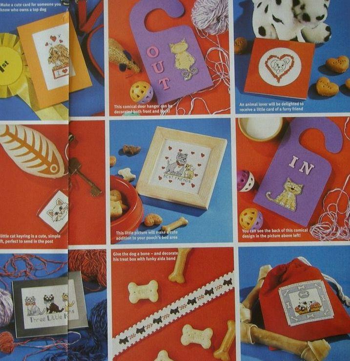 27 Dog & Cat Designs ~ Cross Stitch Charts