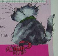 Scorpio Cat Card ~ Cross Stitch Chart
