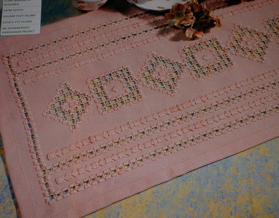 Hardanger Table Runner ~ Hardanger Embroidery Pattern