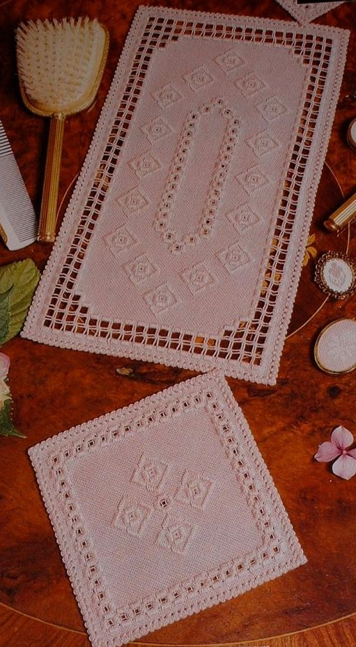 Dressing Table Mats ~ TWO Hardanger Charts
