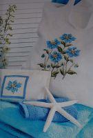 Blue Poppies ~ Cross Stitch Chart