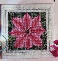 Pink Clematis ~ Cross Stitch Chart