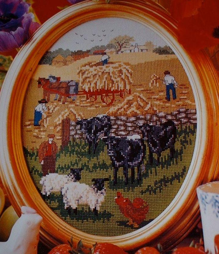 Countryside Summer Harvest ~ Cross Stitch Chart