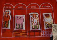 Farmyard Cot Bumper with Animal Toys ~ Cross Stitch Chart