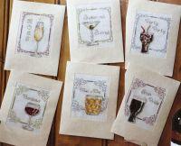 Celebratory Drinks Cards ~ Six cross Stitch Charts