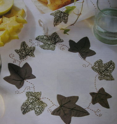Spring Leaves Tablecloth ~ Applique Sewing Pattern