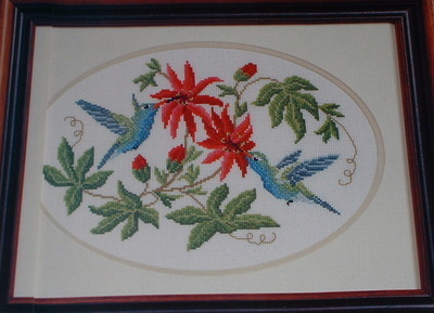 Humming Birds ~ Cross Stitch Chart