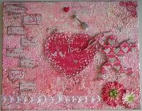 VALENTINE ~ OOAK Handmade Scrapbook Albums