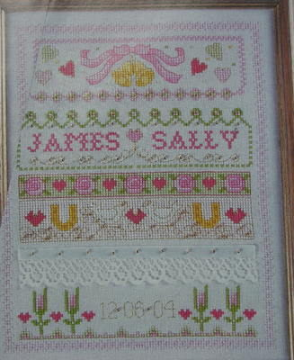 Wedding band Sampler ~ Cross Stitch Chart