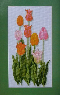 Eight Tulips ~ Cross Stitch charts