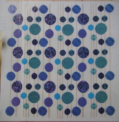Textured Spotty Satin Stitch Cushion ~ Embroidery Pattern