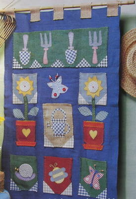 Sunflower Garden Wall Tidy ~ Applique Sewing Pattern