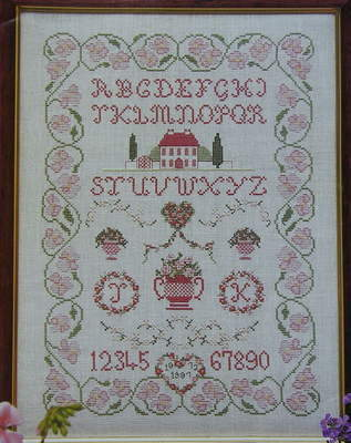 18th Century Style Floral Sampler ~ Cross Stitch Chart