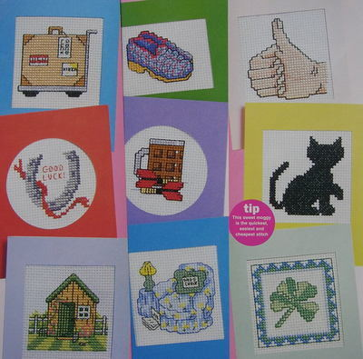 Good Luck, Father's Day & Bon Voyage Cards ~ 12 Cross Stitch Charts