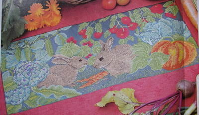 Garden Rabbits ~ Cross Stitch Chart