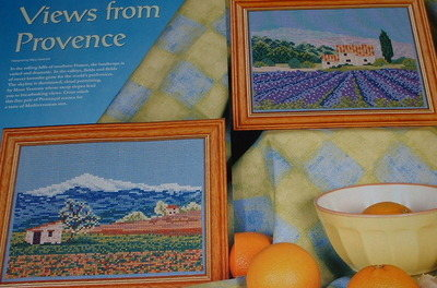 Lavender Fields & Mountains of Provence ~ Two Cross Stitch Charts