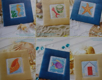 Seven Mini Seaside Pictures/Cards ~ Cross Stitch Charts
