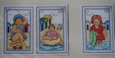 A Trio of Jolly Bathers ~ Cross Stitch Charts