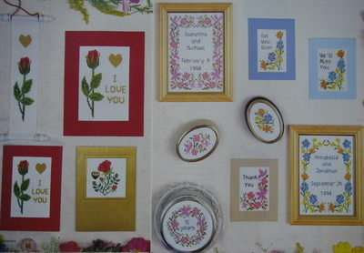 Floral Cards & Samplers ~ Cross Stitch Charts