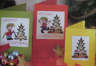 Christmas Elves Cards & Cake Banding ~ Cross Stitch Charts