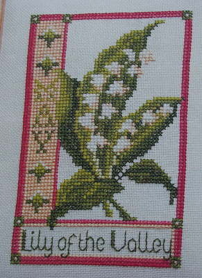 Lily of the Valley May Birthday ~ Cross Stitch Chart