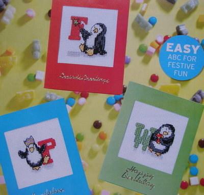 Party Penguin ABC Alphabet ~ Cross Stitch Charts