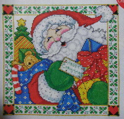 Jolly Santa with Presents ~ Cross Stitch Chart