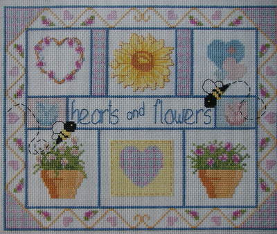 Hearts & Flowers Sampler ~ Cross Stitch Chart