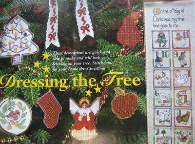 Christmas Decorations, Bellpull & Banner ~ Cross Stitch Charts
